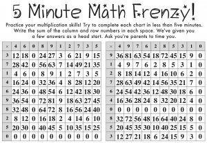Math Frenzy - Multiplication Answer